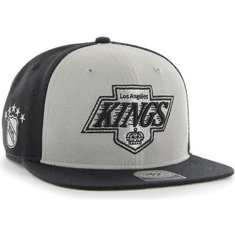 casquette-plate-noire-et-grise-los-angeles-kings-nhl-sure-shot-47-brand