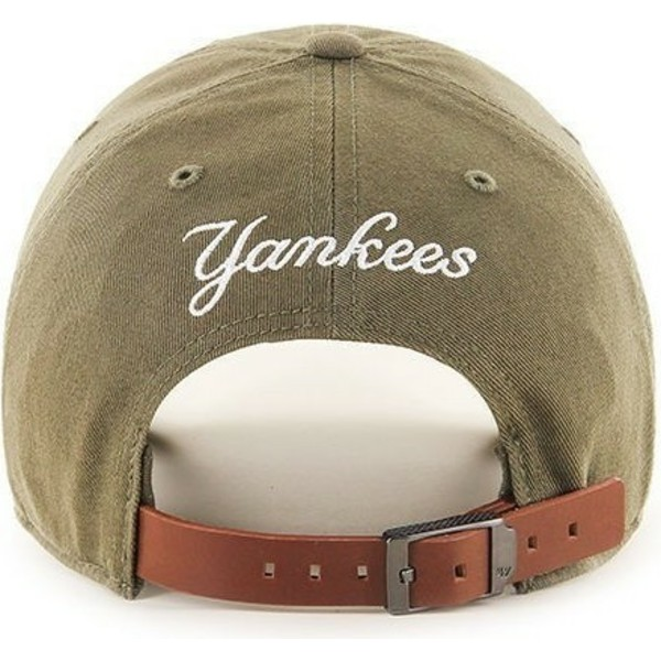 casquette-courbee-marron-new-york-yankees-mlb-clean-up-47-brand