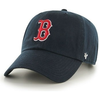 Casquette courbée bleue marine Boston Red Sox MLB Clean Up 47 Brand