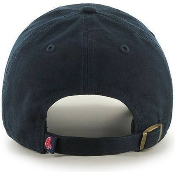 casquette-courbee-bleue-marine-boston-red-sox-mlb-clean-up-47-brand