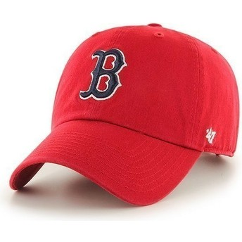 Casquette courbée rouge Boston Red Sox MLB Clean Up 47 Brand