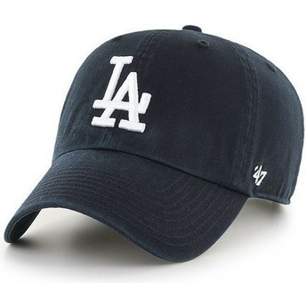 Casquette courbée noire Los Angeles Dodgers MLB Clean Up 47 Brand