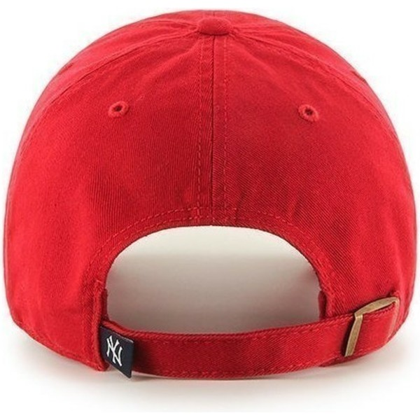 casquette-courbee-rouge-new-york-yankees-mlb-clean-up-47-brand