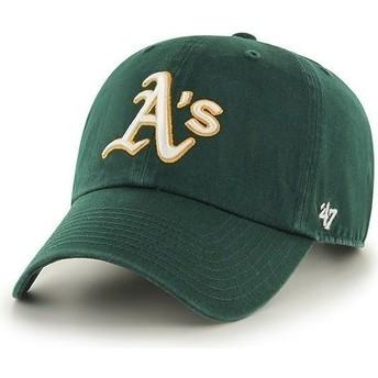 Casquette courbée verte Oakland Athletics MLB Clean Up 47 Brand