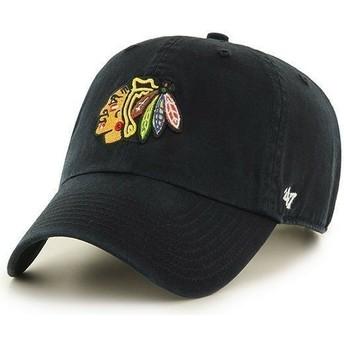 Casquette courbée noire Chicago Blackhawks NHL Clean Up 47 Brand
