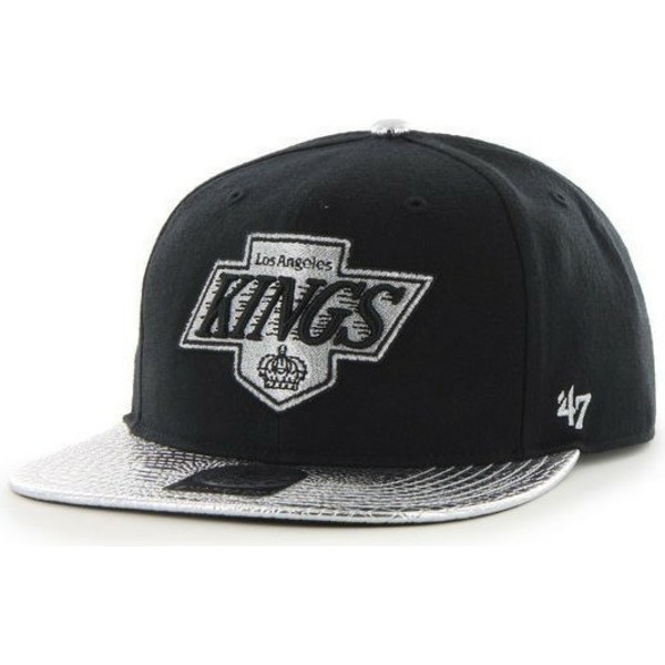 casquette-plate-noire-snapback-los-angeles-kings-nhl-47-brand