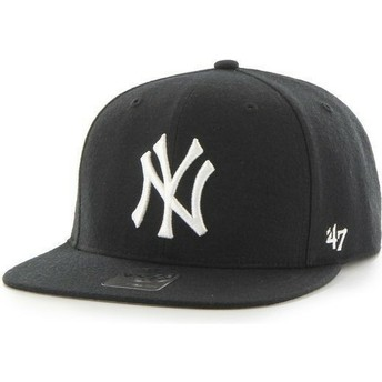 Casquette plate noire snapback unie MLB NewYork Yankees 47 Brand