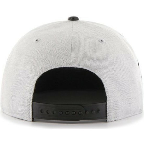 casquette-plate-grise-snapback-avec-logo-lateral-unie-mlb-los-angeles-dodgers-47-brand