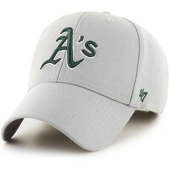 Casquette à visière courbée grise unie MLB Oakland Athletics 47 Brand