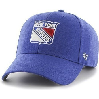 Casquette à visière courbée bleue NHL New York Rangers 47 Brand