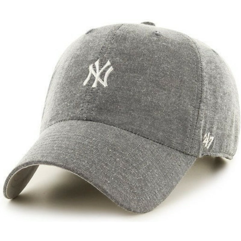 casquette-a-visiere-courbee-grise-avec-petit-logo-mlb-newyork-yankees-47-brand