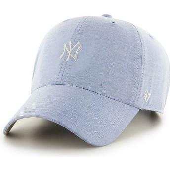 Casquette à visière courbée bleue avec petit logo MLB NewYork Yankees 47 Brand