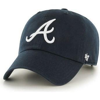Casquette à visière courbée bleue marine avec logo frontal MLB Atlanta Braves 47 Brand