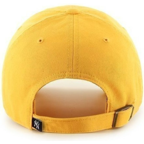 casquette-a-visiere-courbee-jaune-avec-grand-logo-frontal-mlb-newyork-yankees-47-brand