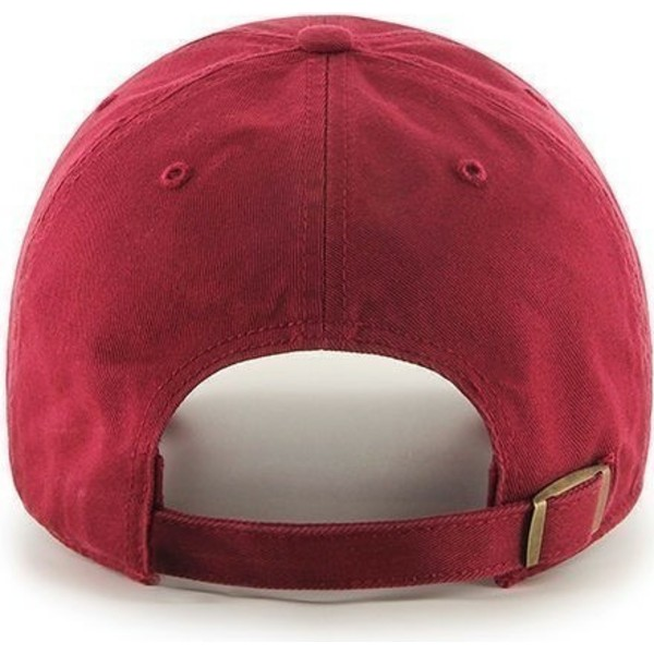 casquette-a-visiere-courbee-rouge-unie-47-brand