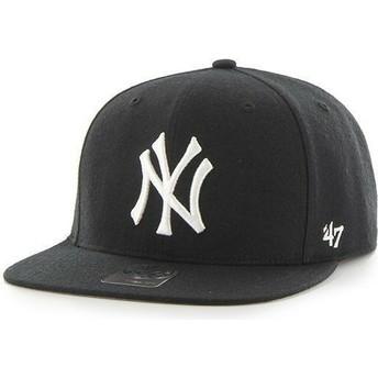 Casquette plate noire snapback pour enfant New York Yankees MLB 47 Brand