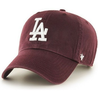 Casquette courbée grenat Los Angeles Dodgers MLB Clean Up 47 Brand