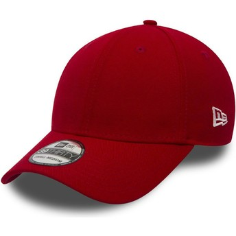 Casquette courbée rouge ajustée 39THIRTY Basic Flag New Era