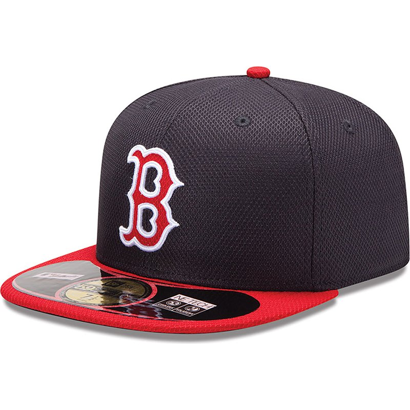 casquette-plate-rouge-ajustee-59fifty-diamond-era-boston-red-sox-mlb-new-era
