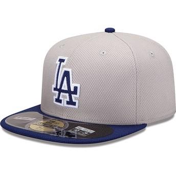 Casquette plate bleue ajustée 59FIFTY Diamond Era Los Angeles Dodgers MLB New Era