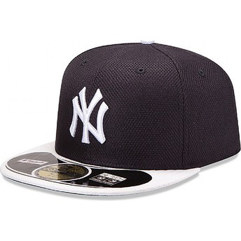 Casquette plate bleue marine ajustée 59FIFTY Diamond Era New York Yankees MLB New Era