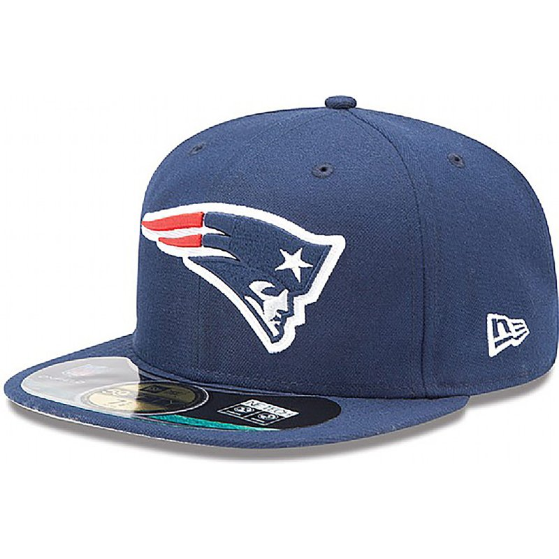 casquette-plate-bleue-ajustee-59fifty-authentic-on-field-game-new-england-patriots-nfl-new-era