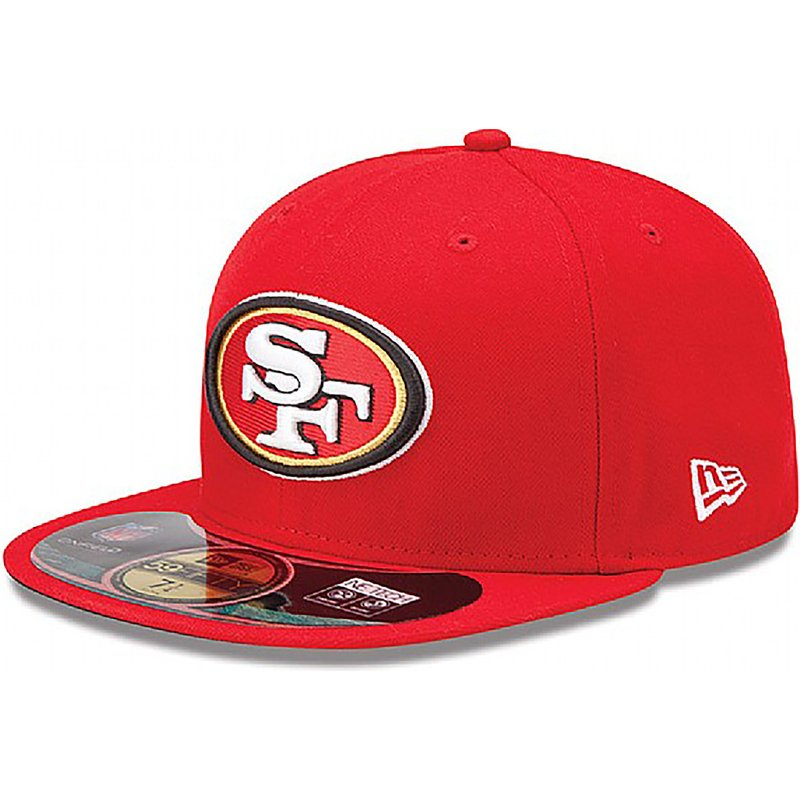 casquette-plate-rouge-ajustee-59fifty-authentic-on-field-game-san-francisco-49ers-nfl-new-era