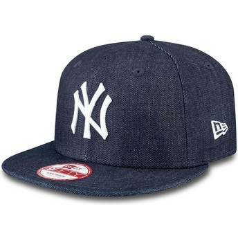 Casquette plate bleue marine snapback ajustable 9FIFTY Essentialnim New York Yankees MLB New Era