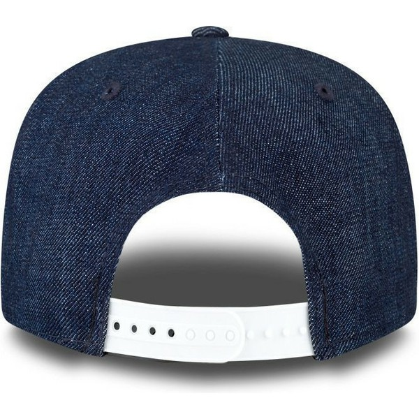 casquette-plate-bleue-marine-snapback-ajustable-9fifty-essentialnim-new-york-yankees-mlb-new-era