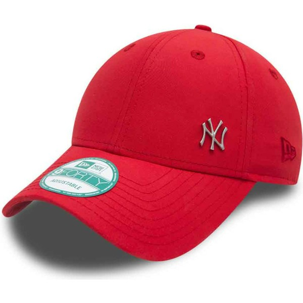 casquette-courbee-rouge-ajustable-9forty-flawless-logo-new-york-yankees-mlb-new-era