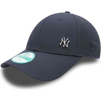 Casquette courbée bleue marine ajustable 9FORTY Flawless Logo New York Yankees MLB New Era