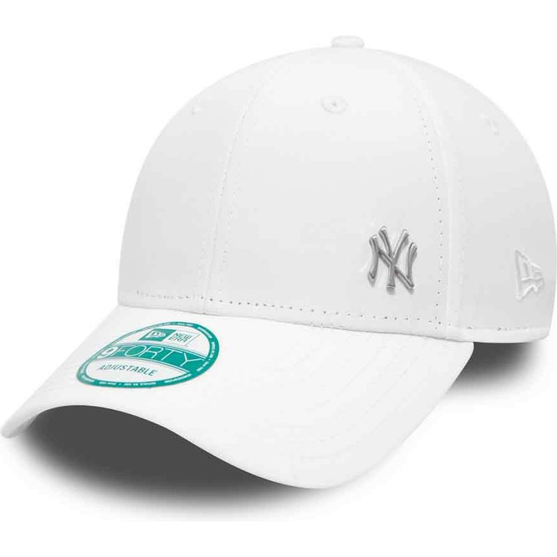 casquette-courbee-blanche-ajustable-9forty-flawless-logo-new-york-yankees-mlb-new-era
