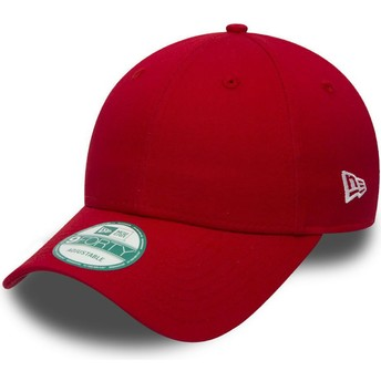 Casquette courbée rouge ajustable 9FORTY Basic Flag New Era