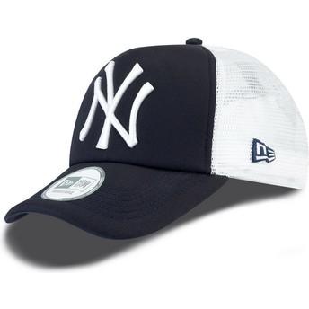 Casquette trucker bleue marine Clean A Frame New York Yankees MLB New Era