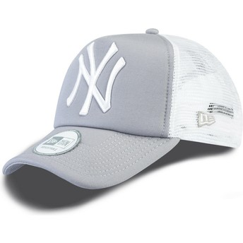 Casquette trucker grise Clean A Frame New York Yankees MLB New Era
