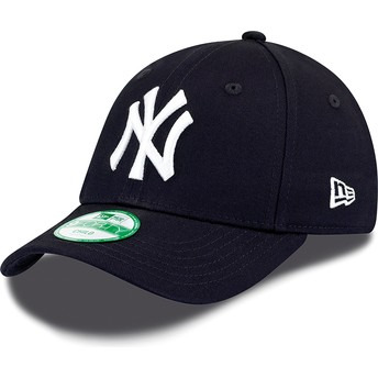 Casquette courbée bleue marine ajustable pour enfant 9FORTY Essential New York Yankees MLB New Era