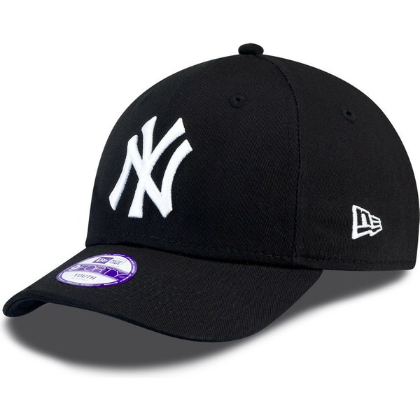 casquette-courbee-noire-ajustable-pour-enfant-9forty-essential-new-york-yankees-mlb-new-era